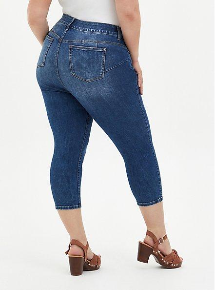 Crop Bombshell Skinny Jean - Premium Stretch Medium Wash, BEL AIR, alternate