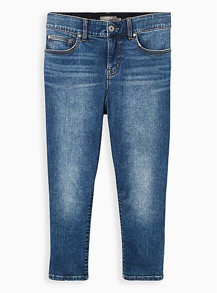 Crop Bombshell Skinny Jean - Premium Stretch Medium Wash, BEL AIR, hi-res