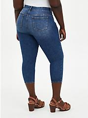 Crop Bombshell Skinny Jean - Premium Stretch Medium Wash, , fitModel1-alternate