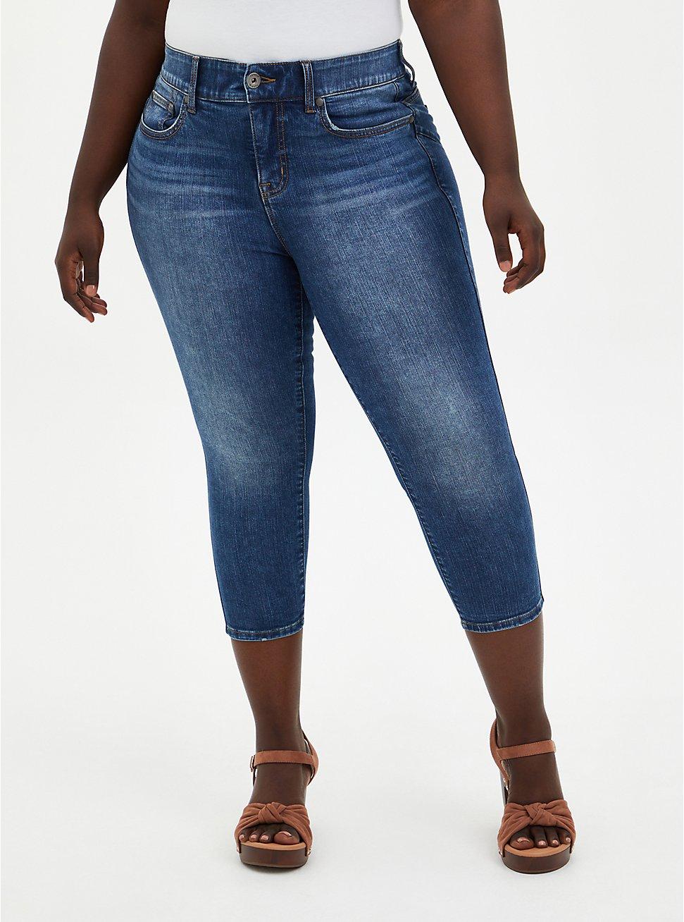 Crop Bombshell Skinny Jean - Premium Stretch Medium Wash, , fitModel1-hires