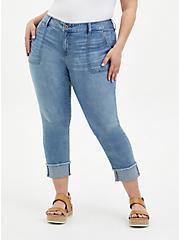 Plus Size Crop Boyfriend Jean - Vintage Stretch Light Wash, UNDONE, hi-res