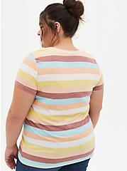 Vintage Tee - Triblend Jersey Stripe Multi, OTHER PRINTS, alternate