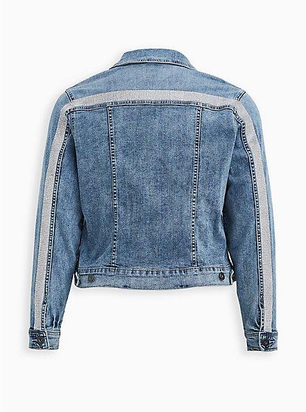 Embellished Denim Jacket - Light Wash, DENIM, hi-res