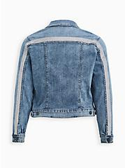 Embellished Denim Jacket - Light Wash, DENIM, hi-res