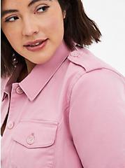 Pink Peplum Twill Jacket, POLIGNAC, alternate