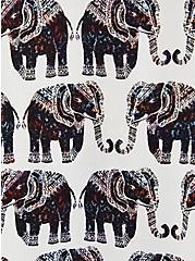 Harper - White Elephant Challis Pullover Blouse, ELEPHANTS - WHITE, alternate