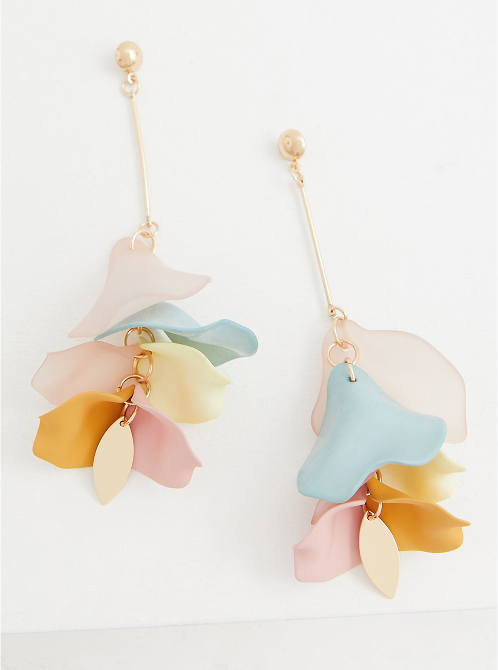 Multi Petal Drop Statement Earrings, , hi-res