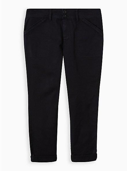 Crop Aviator Pant - Black, DEEP BLACK, hi-res