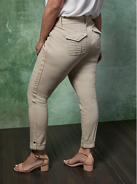 Crop Aviator Pant - Khaki, KHAKI, alternate