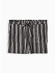 Multi Stripe Ponte Paperbag Short, MULTI STRIPE, hi-res