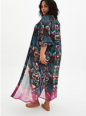 Multi Ikat Maxi Kimono Swim Cover-Up , MULTI, alternate