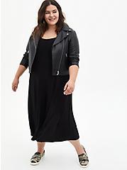 Super Soft Black Culotte Jumpsuit, DEEP BLACK, alternate