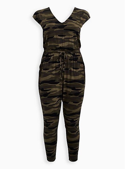 Camo Jersey Jumpsuit, CAMO, hi-res