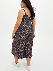 Super Soft Grey Floral Culotte Jumpsuit, FLORAL - GREY, alternate