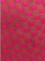Pink Dot Mesh Underwire Longline Bralette, BEET ROOT PINK, alternate