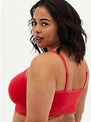 Red Lightly Padded Seamless Bralette, SCARLET, alternate