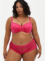 Lace Cheeky Panty, BEET ROOT PINK, alternate