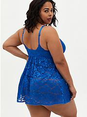 Sea Blue Lace Babydoll, SEA BLUE, alternate