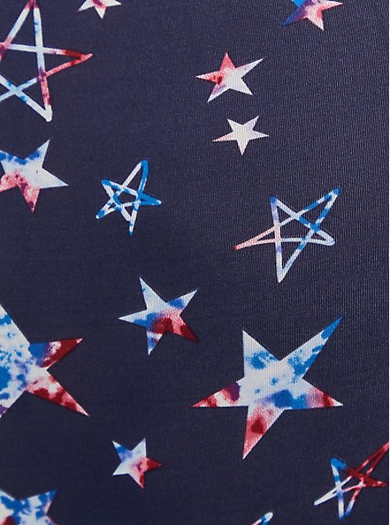 Navy Stars Microfiber Twist Front Bralette, FUNKY STARS NAVY, alternate