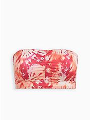 Plus Size Microfiber Bandeau - Pink + Orange Tie Dye, ICON DYE PINK, hi-res