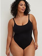Seamless Thong Bodysuit - Black, RICH BLACK, hi-res