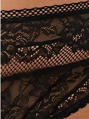 Thong Panty - Lace Black, RICH BLACK, alternate