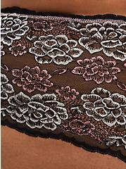 Black Pink Lace Cheeky Panty, FADED FLORAL, alternate