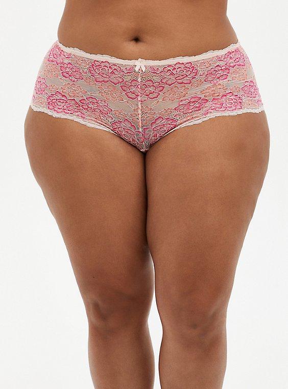 Pink Lace Cheeky Panty, , hi-res