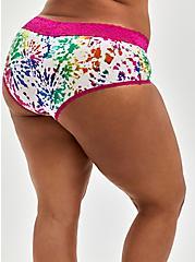 Celebrate Love Cheeky Panty - Second Skin Rainbow Tie Dye , TIE DYE EXPLOSION WHITE, alternate
