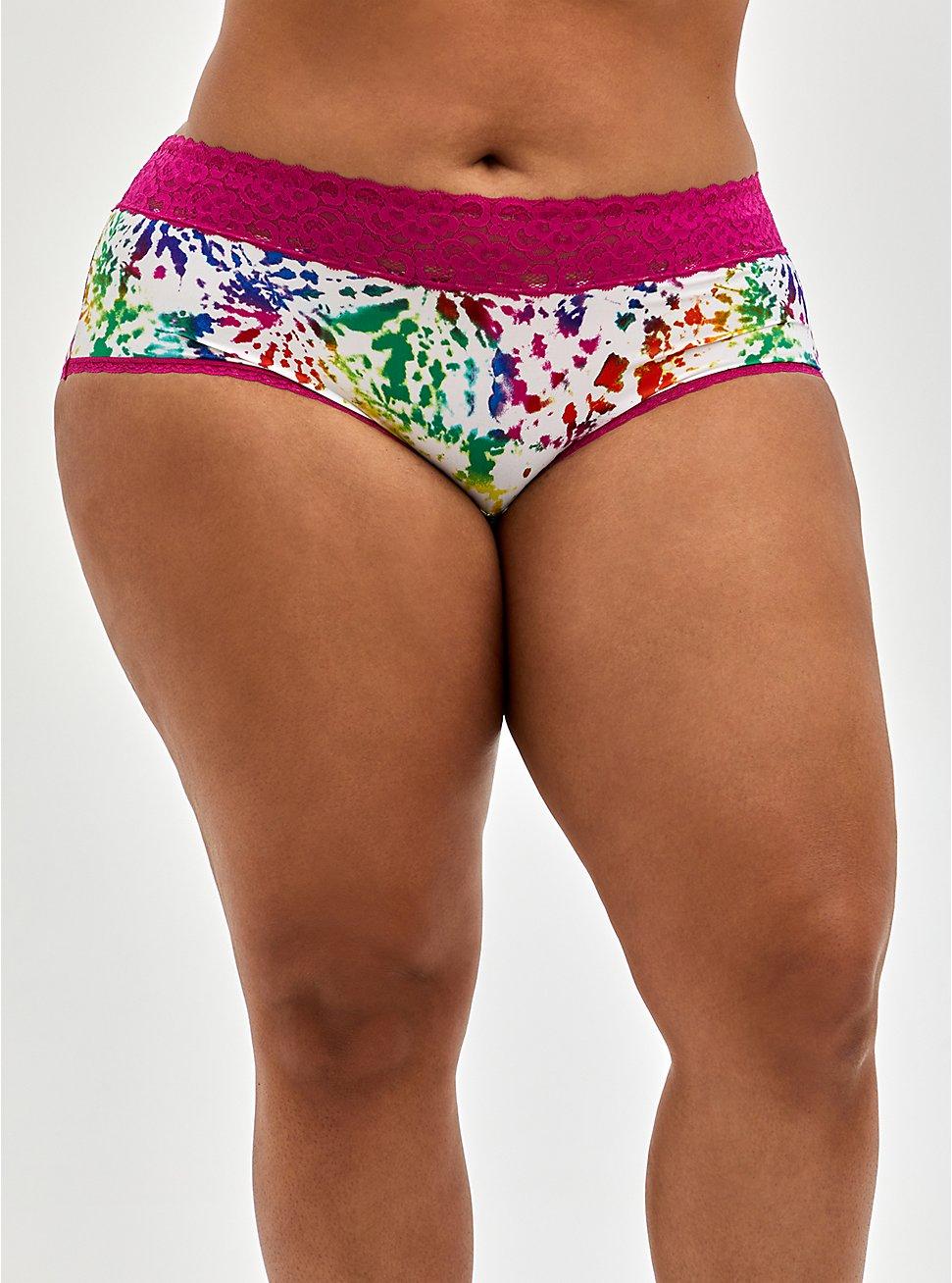 Celebrate Love Cheeky Panty - Second Skin Rainbow Tie Dye , TIE DYE EXPLOSION WHITE, hi-res