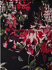 Black Floral Microfiber Thong Panty, FLORAL DISPERSE, alternate
