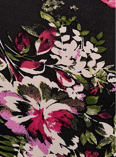 Black Floral Second Skin Brief Panty, FLORAL DISPERSE, alternate