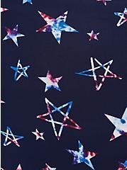 Navy Stars Microfiber High Waist Panty, FUNKY STARS NAVY, alternate