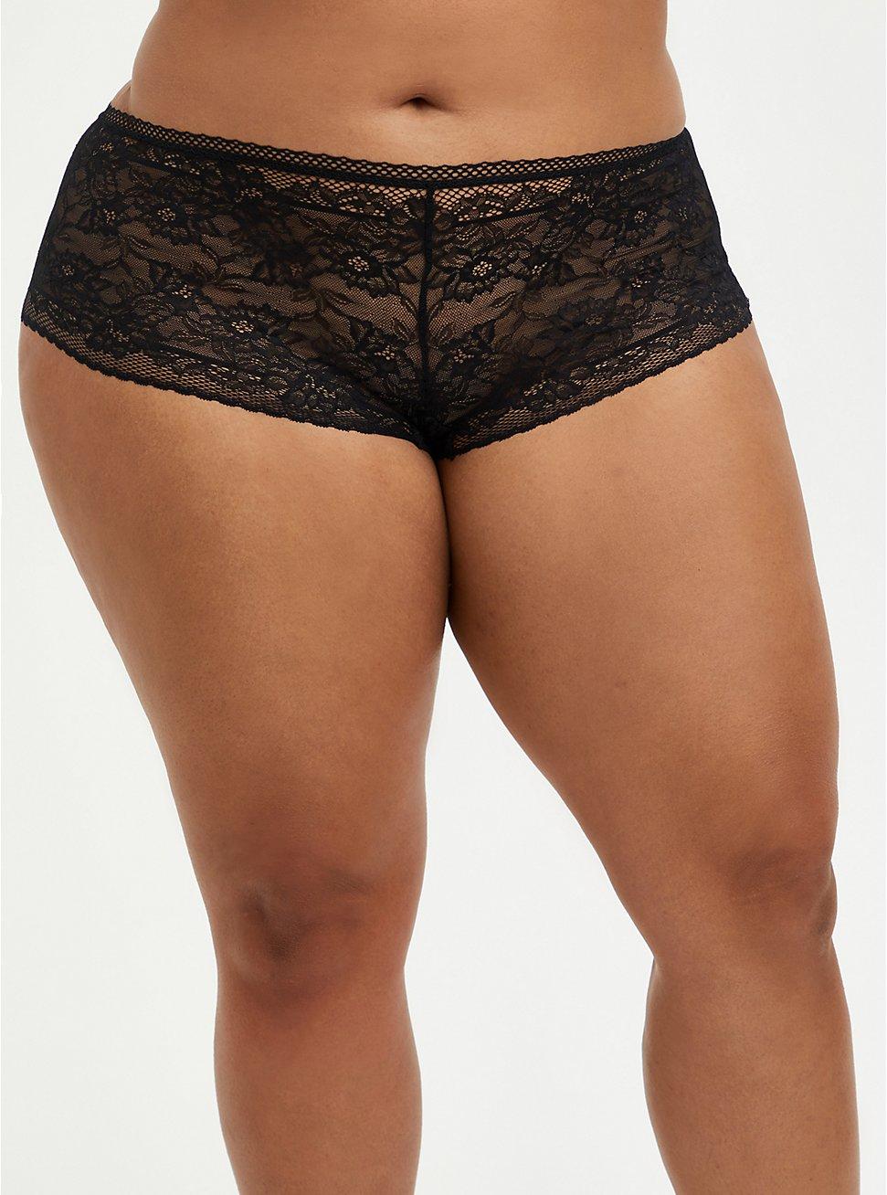 Cheeky Panty - Lace Black, RICH BLACK, hi-res