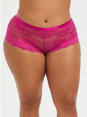 Cheeky Panty - Lace Lattice Pink, FESTIVAL FUCHSIA, hi-res