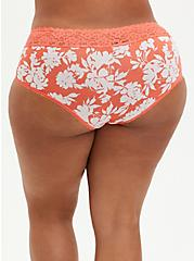 Coral Floral Second Skin Cheeky Panty, SILHOUETTE FLORAL, alternate