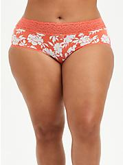Coral Floral Second Skin Cheeky Panty, SILHOUETTE FLORAL, hi-res
