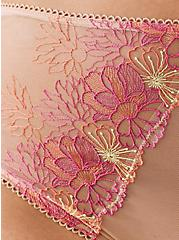 High Waist Panty - Embroidered Mesh Pink, NUDE, alternate