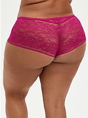 Cheeky Panty - Lace Fuchsia, FESTIVAL FUSCHIA, alternate