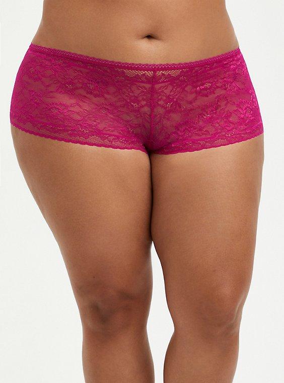 Cheeky Panty - Lace Fuchsia, FESTIVAL FUSCHIA, hi-res