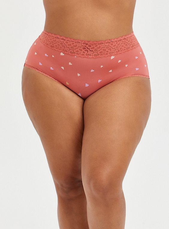 Brief Panty - Microfiber Rose Hearts, HEARTS OF GOLD RED, hi-res