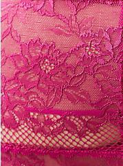 High Waist Thong Panty - Lace Fuchsia, FESTIVAL FUSCHIA, alternate