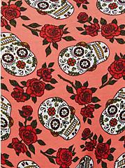 Coral Skull Floral Cotton Boyshort Panty, DITSY MUERTOS CORAL, alternate