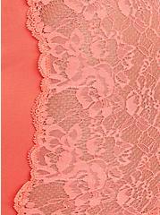 Seamless Flirt Boyshort Panty - Lace Sides Coral , FUSION CORAL, alternate