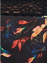 Black Water Leaves Microfiber Hipster Panty, , alternate