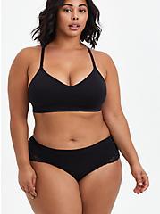 Flirt Hipster Panty - Lace + Seamless Black, RICH BLACK, alternate