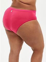 Torrid Logo Microfiber Active Hipster Panty, BEET ROOT PINK, alternate