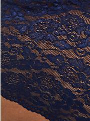 Navy Microfiber & Lace Brief Panty, PEACOAT, alternate