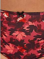 Red Blooms Lace Microfiber Brief Panty, DRAMATIC BLOOMS RED, alternate