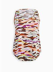 Multi Camo Perforated Jersey Wicking Active Tank, CAMO, hi-res